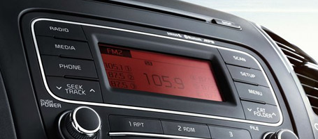 AM/FM/CD/MP3/SiriusXM Audio System With 4 Speakers